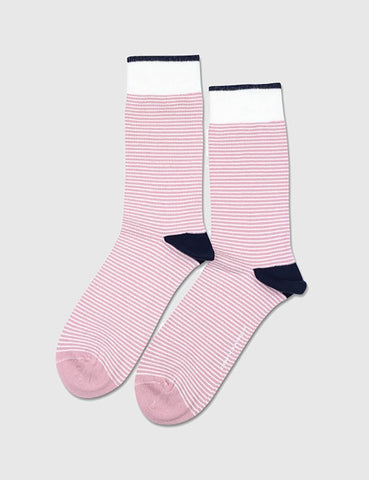 Democratique Mini Stripes Socks - Pink