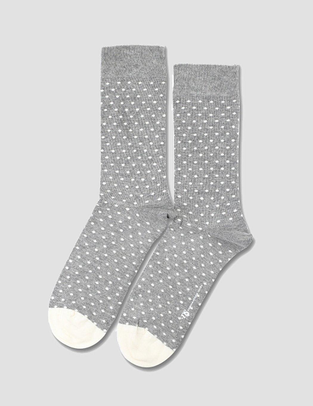 Democratique Originals Polkadot Socks - Light Grey Melange