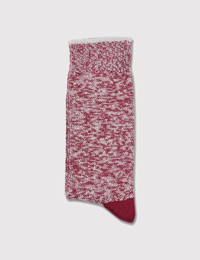 Democratique Relax Twister Socks - Red Wine/Stone