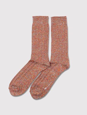 Democratique Relax ZigZag Socks - Spring Red/Curry