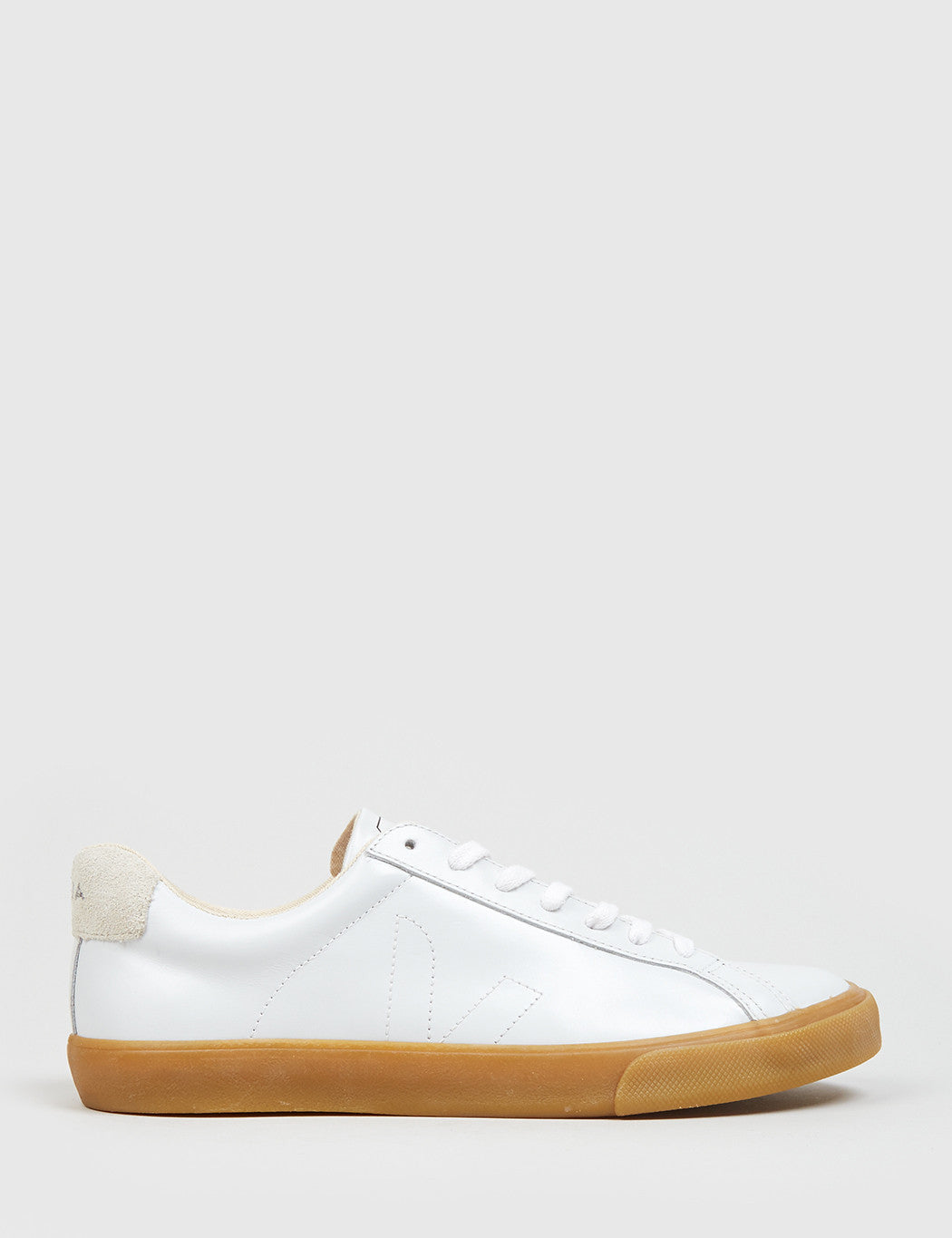 Veja Esplar Low Leather Trainers - Extra White/Natural