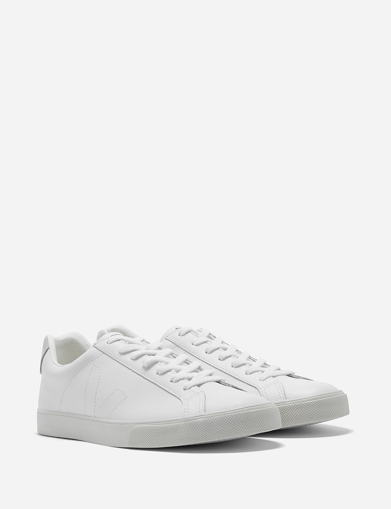 Veja Esplar Trainers (Leather) - Extra White/White Puxador