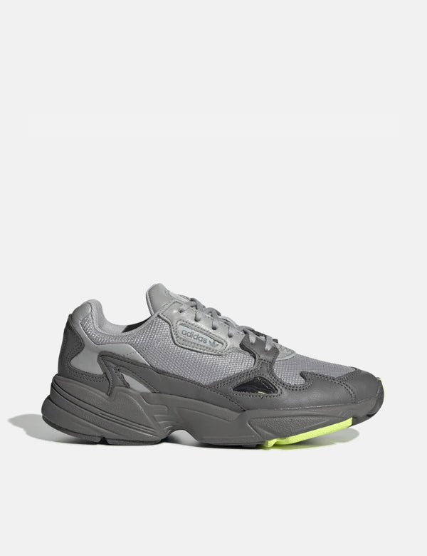 adidas Falcon Shoes (EE5115) - Grey Four/Grey Two/High-Res Yellow