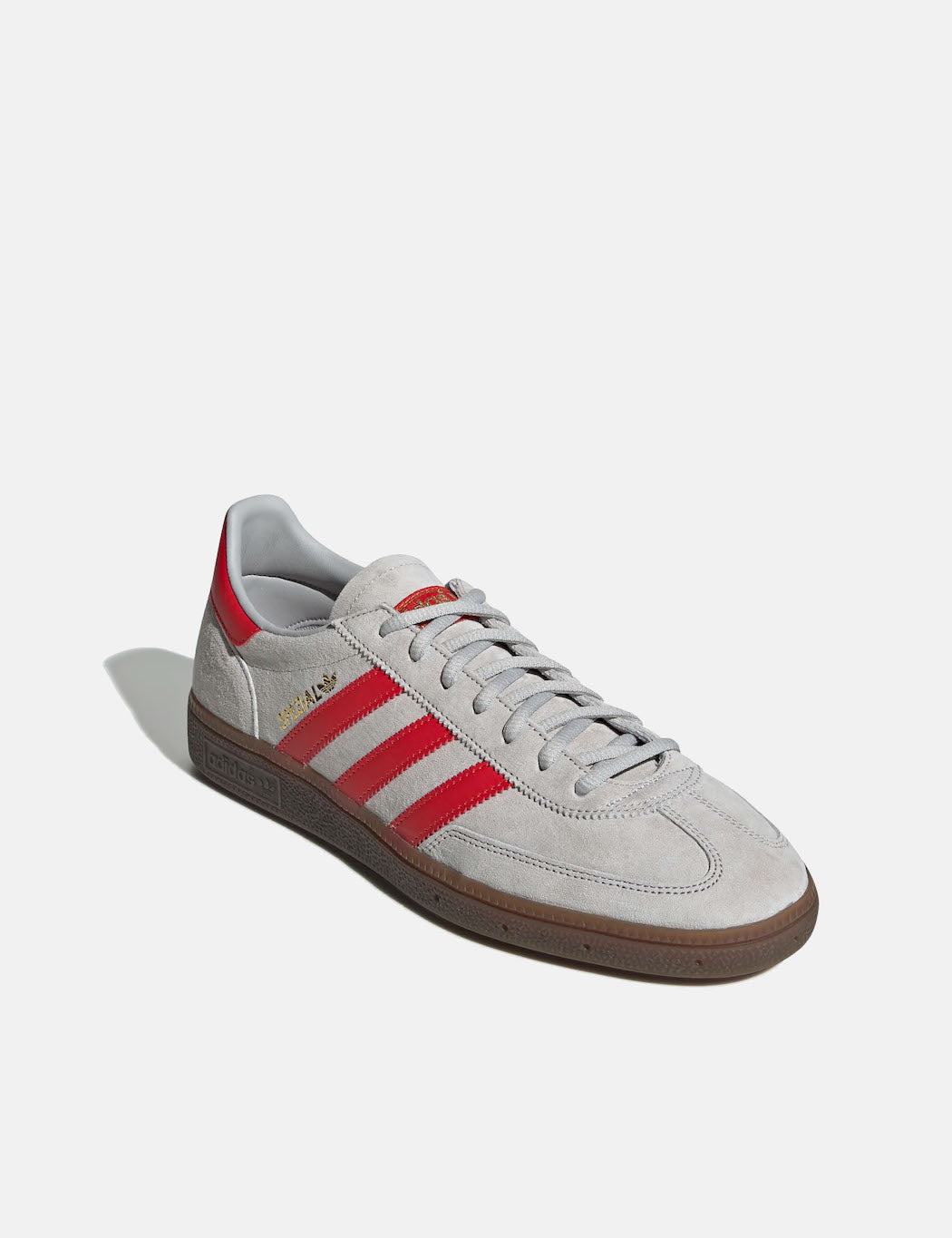 adidas Handball Spezial Shoes - Grey Two/Hi-Res Red/Gold Metallic