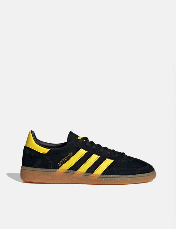 adidas Handball Spezial Shoes (FX5676) - Core Black/Yellow/Gold Metallic