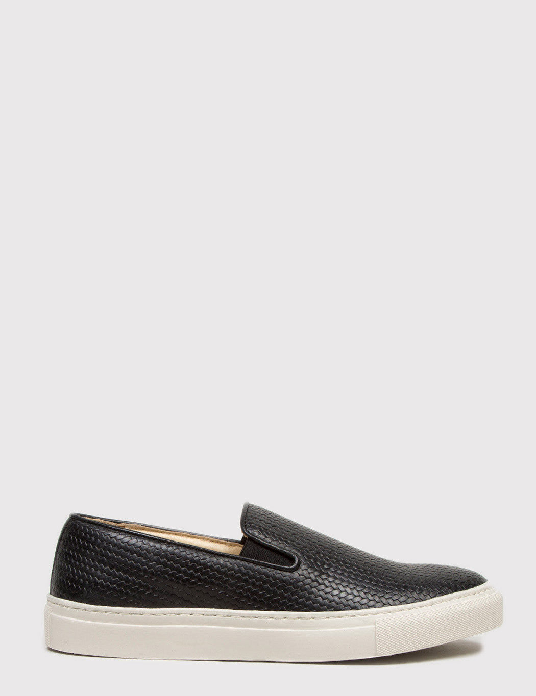 Hudson Hannuk II Leather Slip-On Shoes - Black