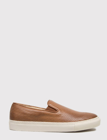 Hudson Hannuk II Leather Slip-On Shoes - Tan