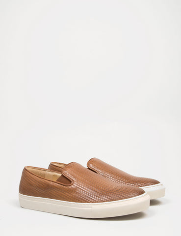 Hudson Hannuk II Leather Slip On Shoes - Tan