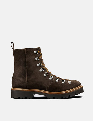 Grenson Brady Ski Boot (Suede) - Peat Brown