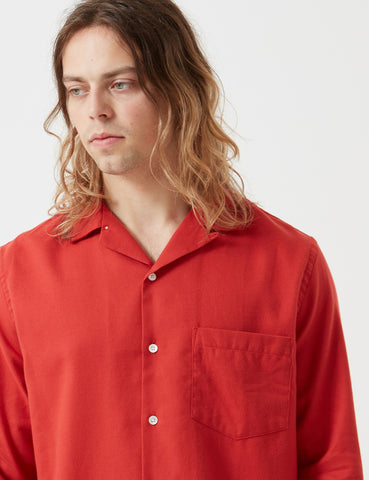 Portuguese Flannel Gas Station Shirt - Red
