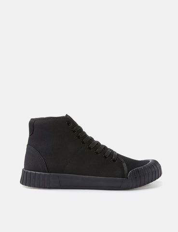 Good News Gamer Hi Trainers (Knit) - Black/Black