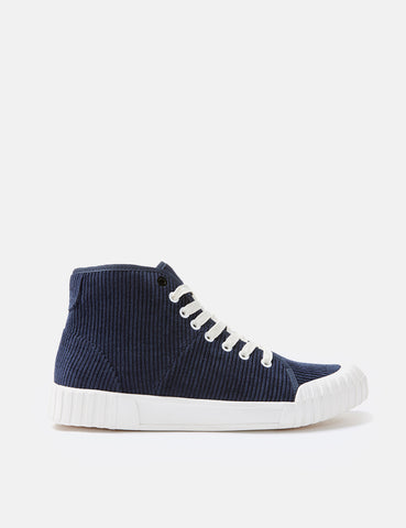 Good News Rhubarb Hi Trainers (Cord) - Navy