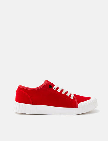 Good News Softball Low Trainers (Velvet) - Red