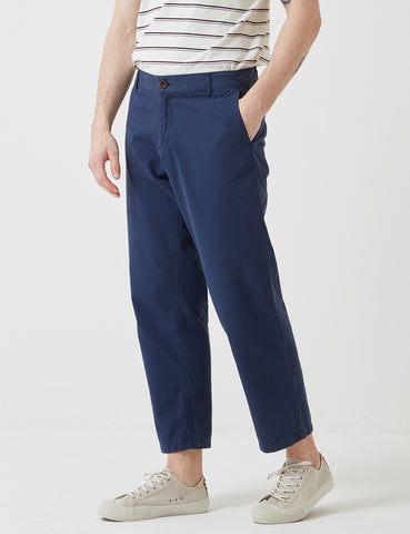 Portuguese Flannel Mini Golf Trousers (Regular Fit) - Navy Blue