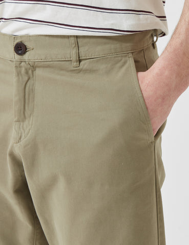 Portuguese Flannel Mini Golf Trousers (Regular Fit) - Light Olive Green