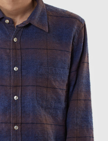 Portuguese Flannel Grampo Shirt - Blue Check