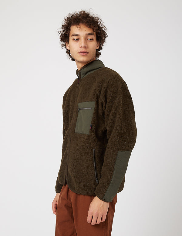 Gramicci Boa Fleece Jacket - Olive