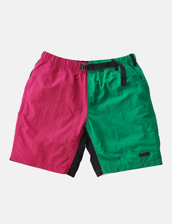 Gramicci Shell Packable Shorts - Raspberry/Kelly Green