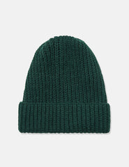 Highland Rib Beanie Hat (Wool/Alpaca) - Forest Green