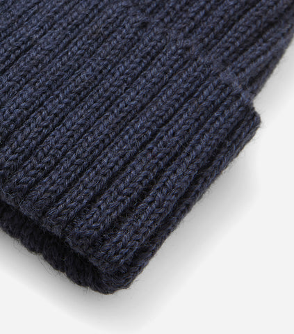 Highland 2000 Ribbed Beanie Hat - Navy Blue