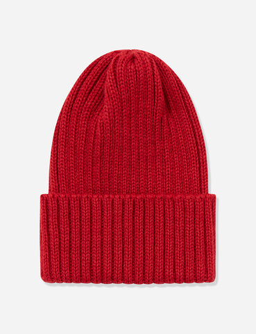 Highland 2000 Ribbed Beanie Hat - Red