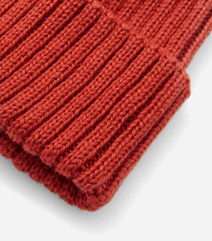 Highland 2000 Ribbed Beanie Hat - Rust
