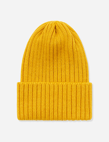 Highland 2000 Ribbed Beanie Hat - Mustard Yellow