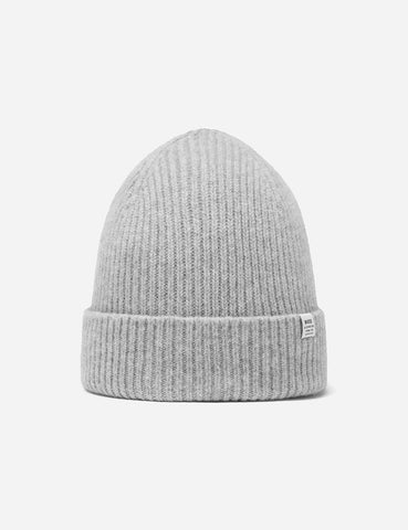 Bhode 'Hawick' Scottish Knitted Beanie Hat (Lambswool) - Light Grey
