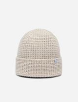Bhode 'Pineapple' Scottish Texture Beanie Hat (Lambswool) - Natural