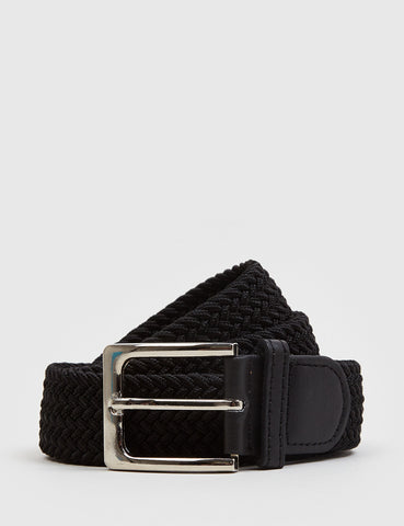 Hone Woven Plait Belt - Black