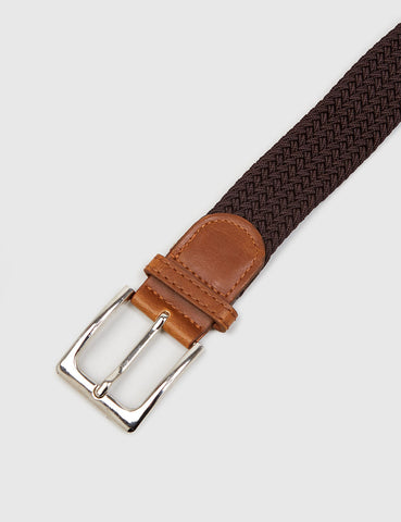 Hone Woven Plait Belt - Brown