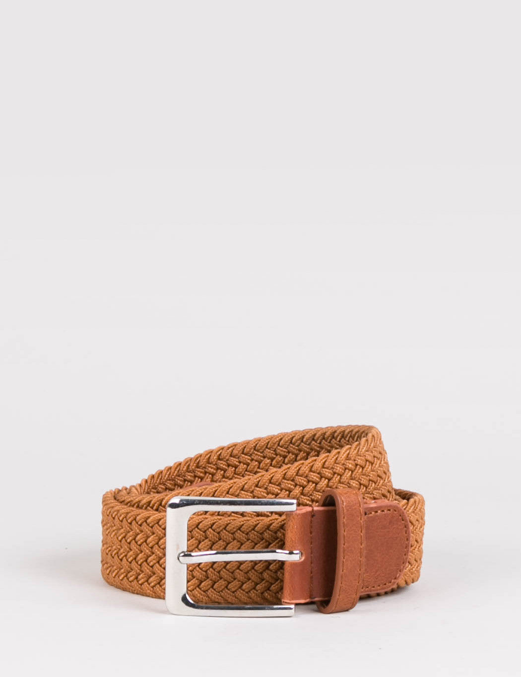 Hone Woven Plait Belt - Tan