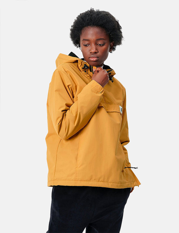 Womens Carhartt-WIP Nimbus Half-Zip Jacket (Fleece Lined) - Winter Sun