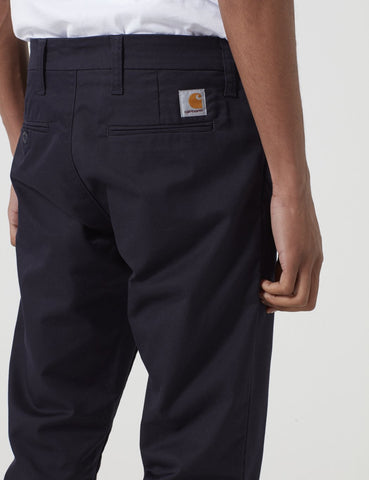 Carhartt Sid Pant Chino (Slim) - Dark Navy Blue