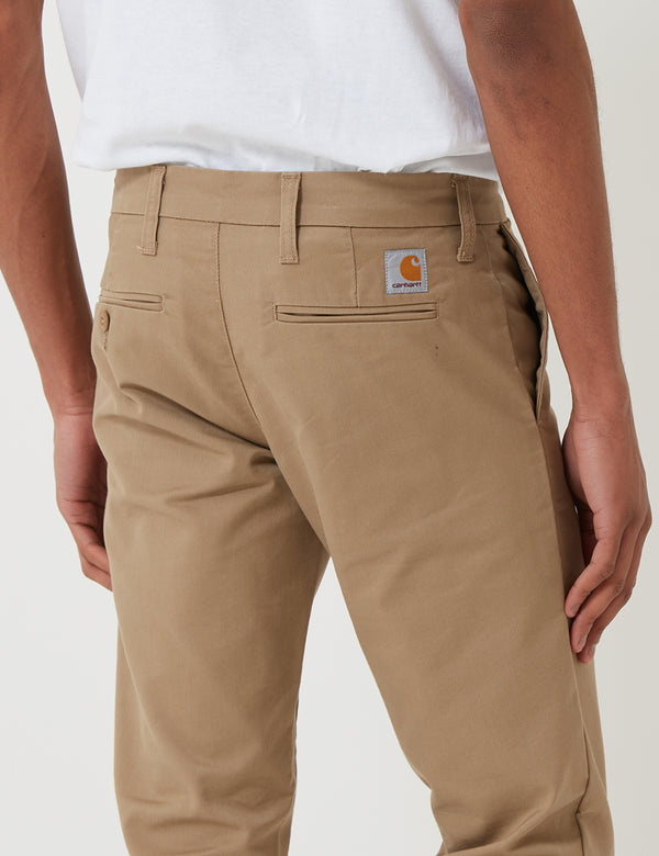 Carhartt-WIP Sid Pant Chino (Slim) - Kaki Leather Rinsed