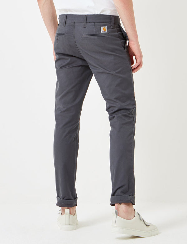 Pantalon Chino Carhartt-WIP Sid (Slim) - Blacksmith Grey