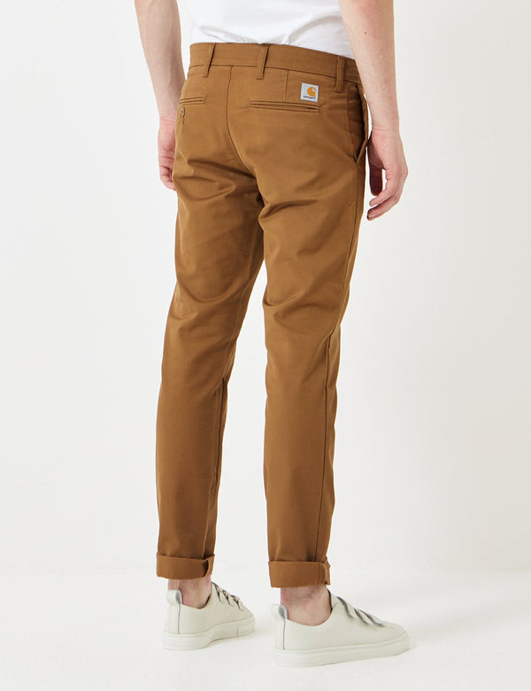 Pantalon Chino Carhartt-WIP Sid (Slim) - Hamilton Brown