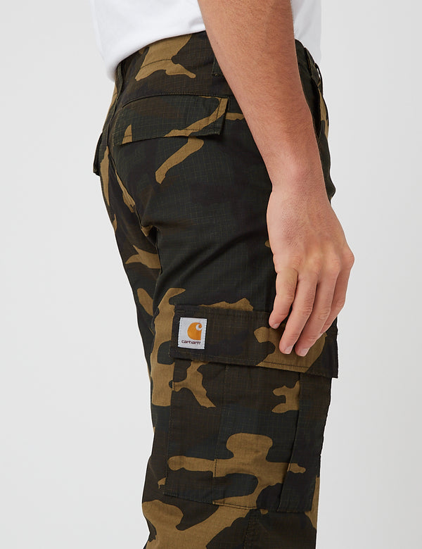 Carhartt-WIP Aviation Cargo Pant (Ripstop, 6.5 oz) - Camo Laurel rinsed