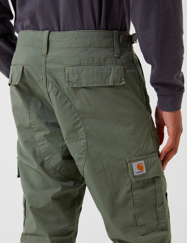 Carhartt-WIP Aviation Cargo Pant (Ripstop) - Dollar Green Rinsed