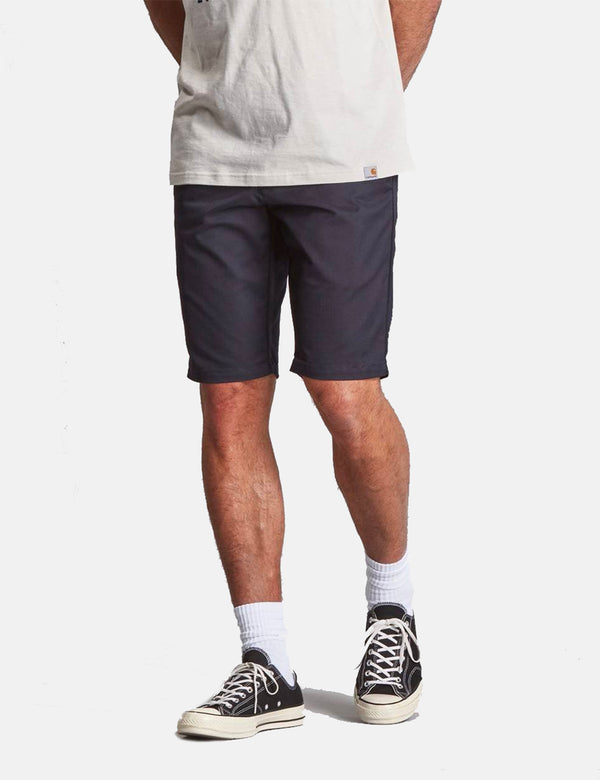 Carhartt-WIP Sid Short (Stretch Twill) - Dark Navy Rinsed