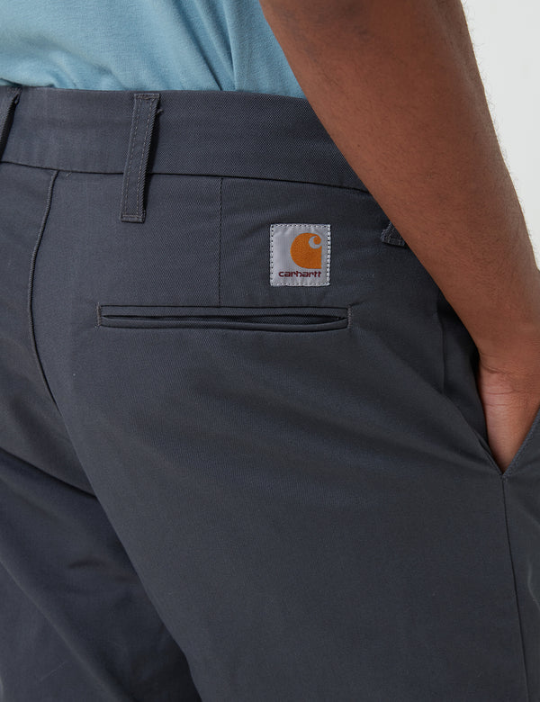 Carhartt-WIP Sid Short (Stretch Twill) - Blacksmith Rinsed
