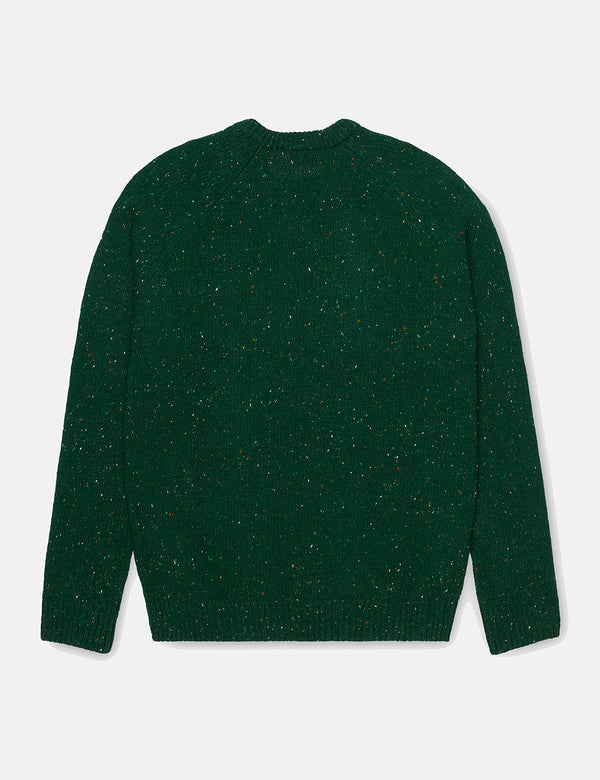 Carhartt-WIP Anglistic Knitted Jumper - Flasche Green Heather