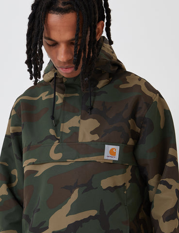 Carhartt Nimbus Half-Zip Jacket (Un-Lined) - Camo Laurel Green