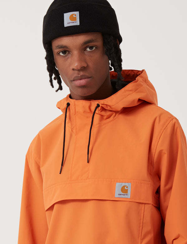 Carhartt-WIP Nimbus Half-Zip Jacket (Un-Lined) - Jaffa Orange