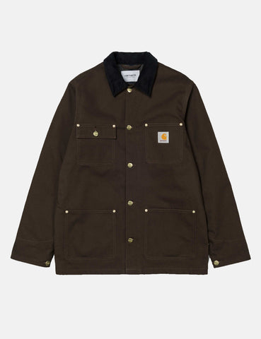 Carhartt Michigan Chore Jacket (Blanket Lined) - Tobacco Brown