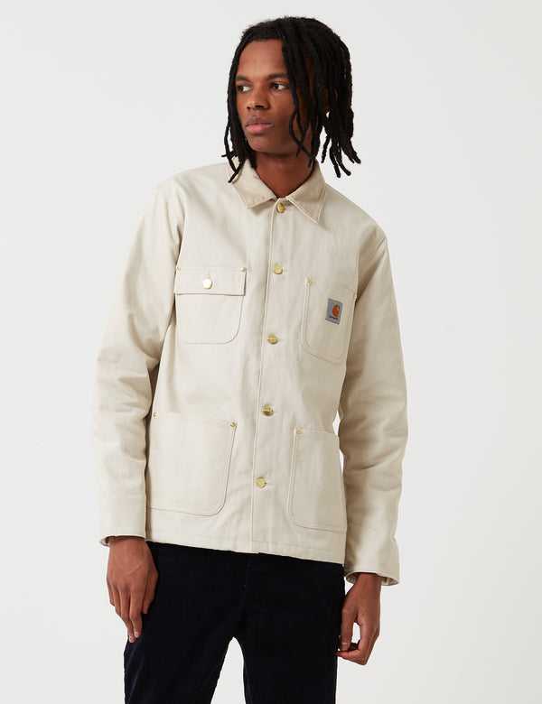 Carhartt-WIP Michigan Chore Jacket (Blanket Lined) - Oats