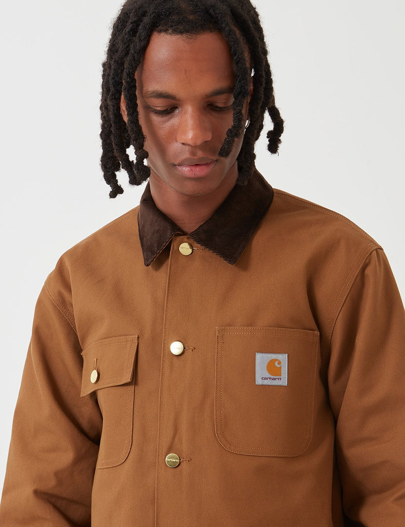 Carhartt-WIP Michigan Coat (Organic Cotton) - Hamilton Brown rigid