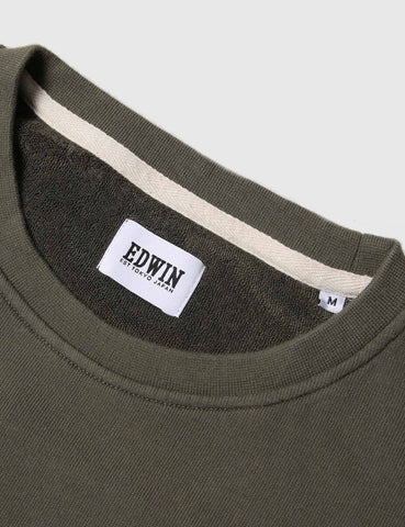 Edwin Long Sleeve Terry T-Shirt - Olive Green