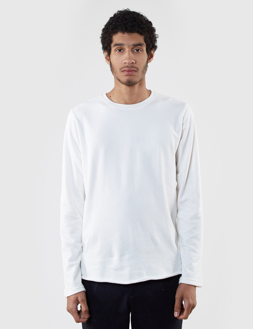 Edwin Terry Long Sleeve T-Shirt - Off White