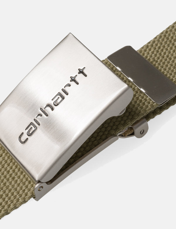 Carhartt-WIP Clip Belt Canvas (Chrome) - Kaki Marron